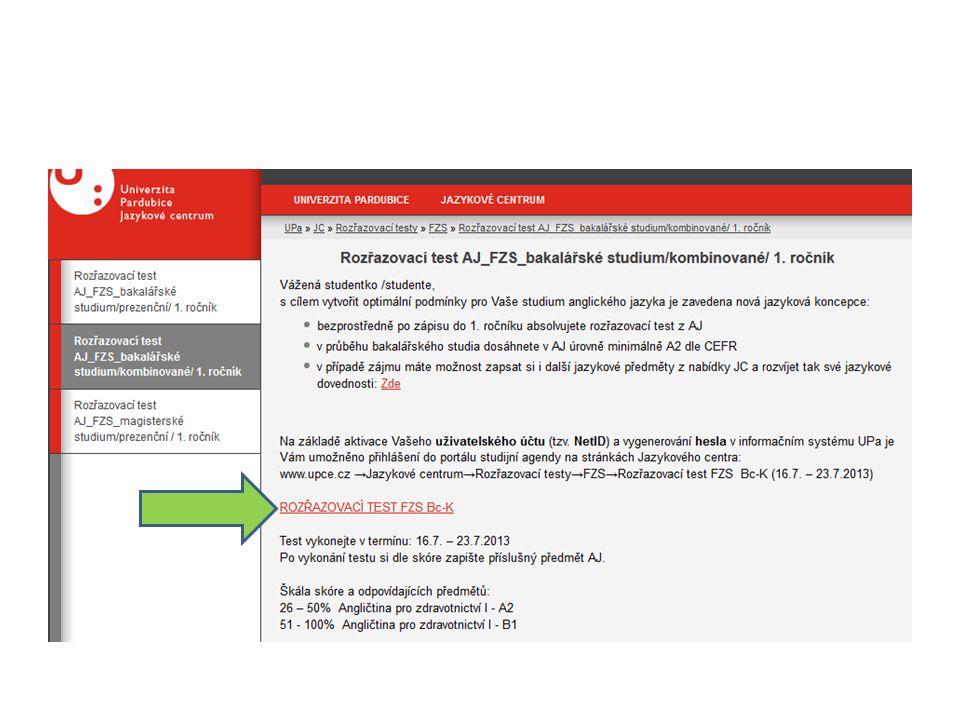 Zadejte své NetID (písmena st a kombinace čísel) a příslušné heslo