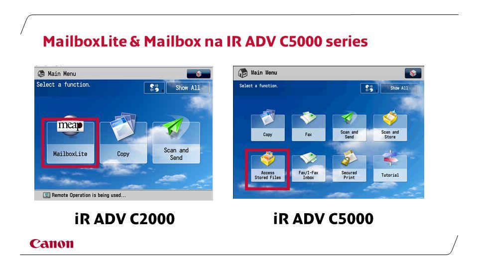 MailboxLite & Mailbox na IR ADV C5000 series iR ADV C2000 iR ADV C5000