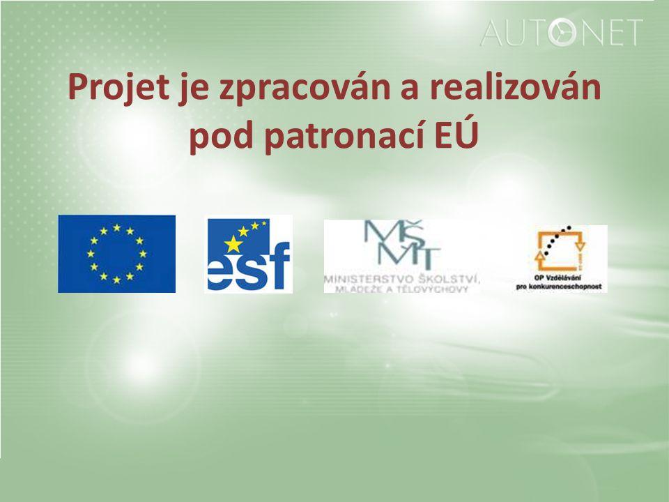 Projet je zpracován a realizován pod patronací EÚ