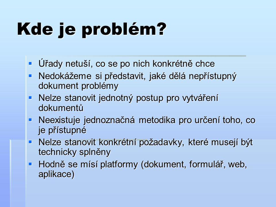 Kde je problém.