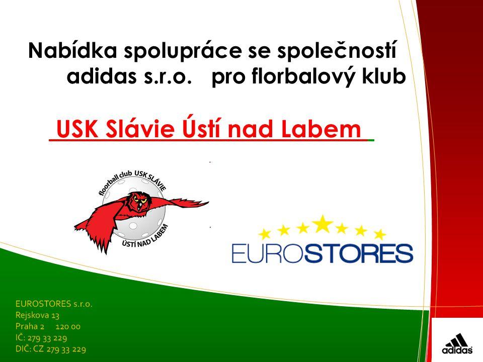 Nabídka spolupráce se společností adidas s.r.o.pro florbalový klub USK Slávie Ústí nad Labem