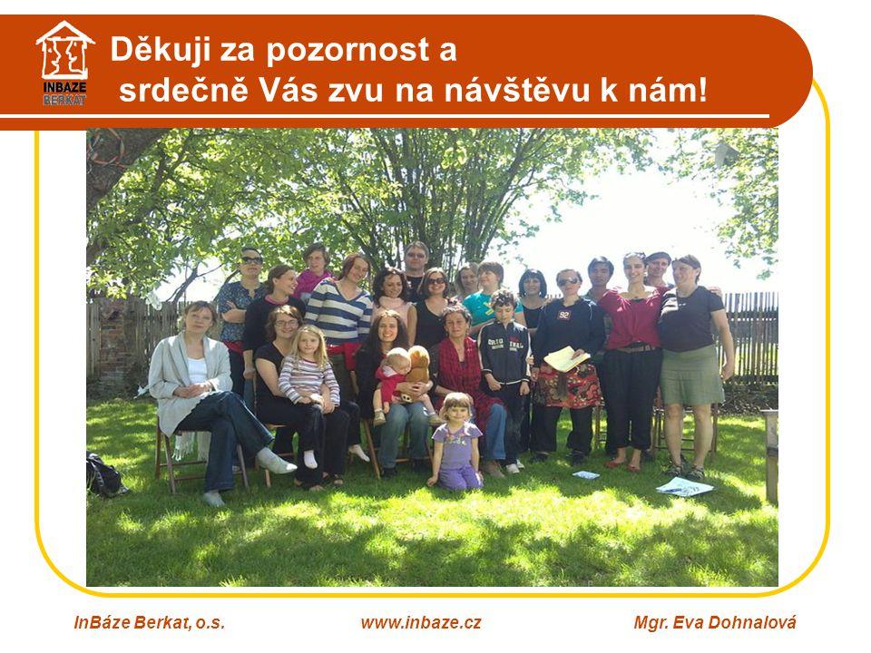 Děkuji za pozornost a srdečně Vás zvu na návštěvu k nám! InBáze Berkat, o.s.www.inbaze.czMgr. Eva Dohnalová