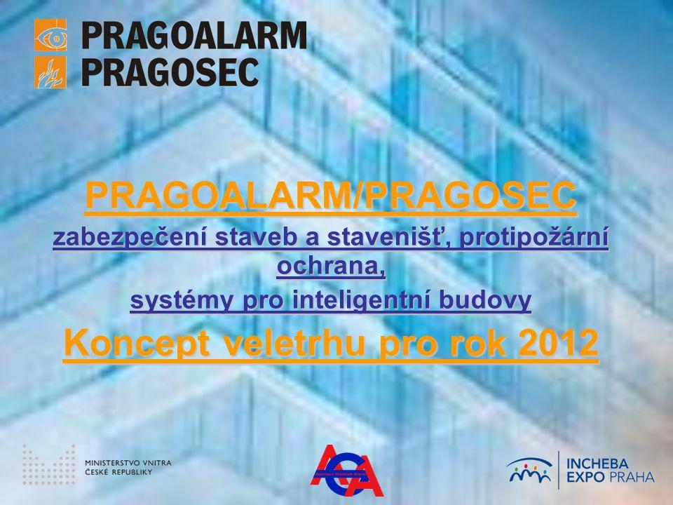 PRAGOALARM/PRAGOSEC zabezpečení staveb a stavenišť, protipožární ochrana, systémy pro inteligentní budovy Koncept veletrhu pro rok 2012