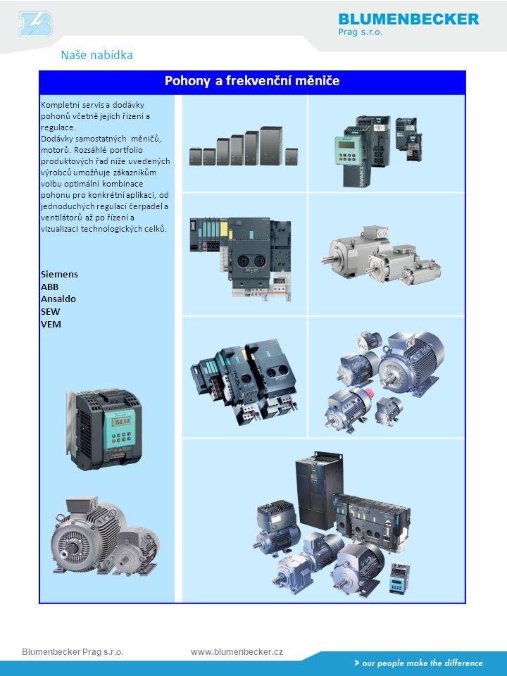 Blumenbecker Prag s.r.o.www.blumenbecker.cz Dodavatel bezpečnostní technologie – Safety Integrated Kompletní portfolio produktů a služeb pro zajištění bezpečnosti výrobních zařízení.