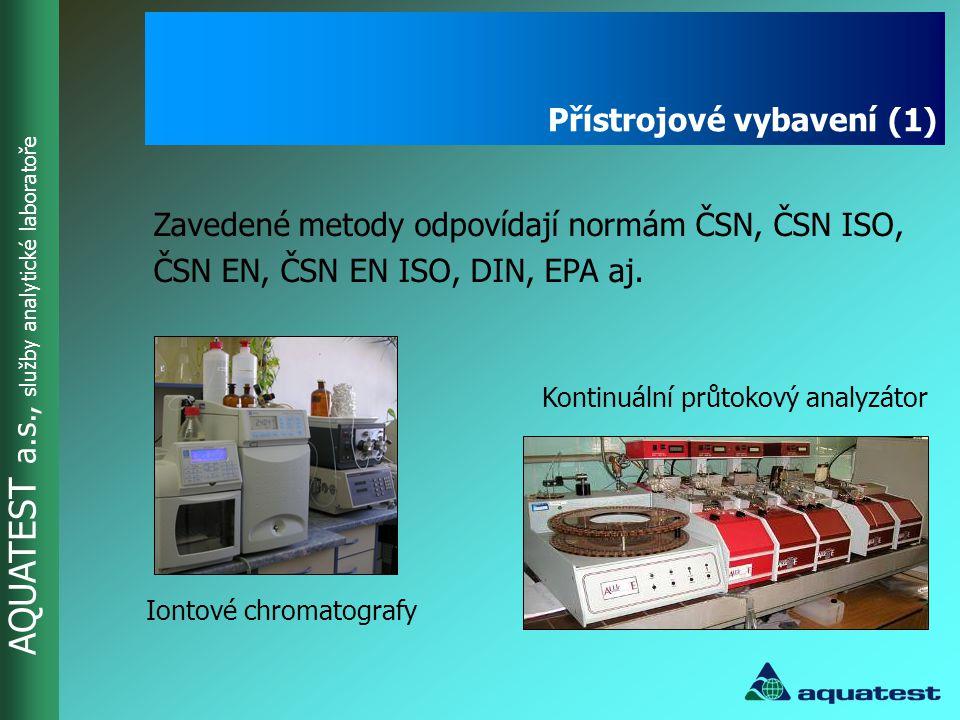 AQUATEST a.s., služby analytické laboratoře Optická emisní spektrometrie s využitím indukčně vázaného plazmatu - rychlá simultánní elementární analýza prvků Přístrojové vybavení (2)
