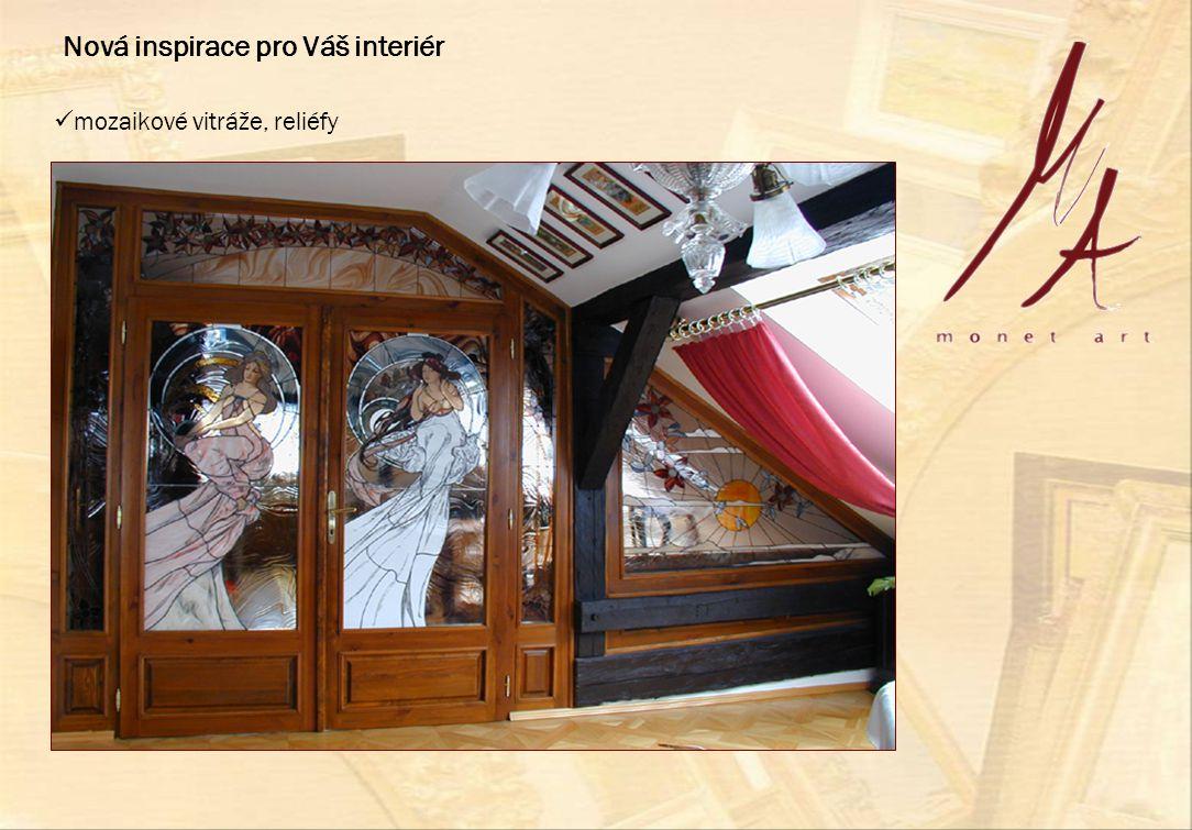  mozaikové vitráže, reliéfy Nová inspirace pro Váš interiér