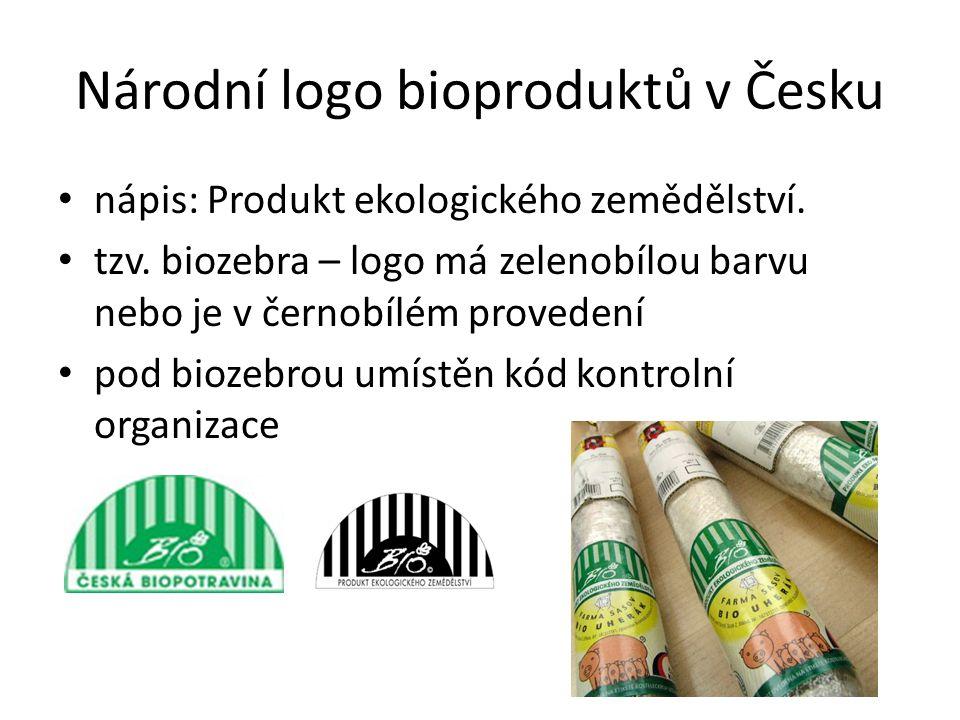 Národní logo bioproduktů v Česku • nápis: Produkt ekologického zemědělství.