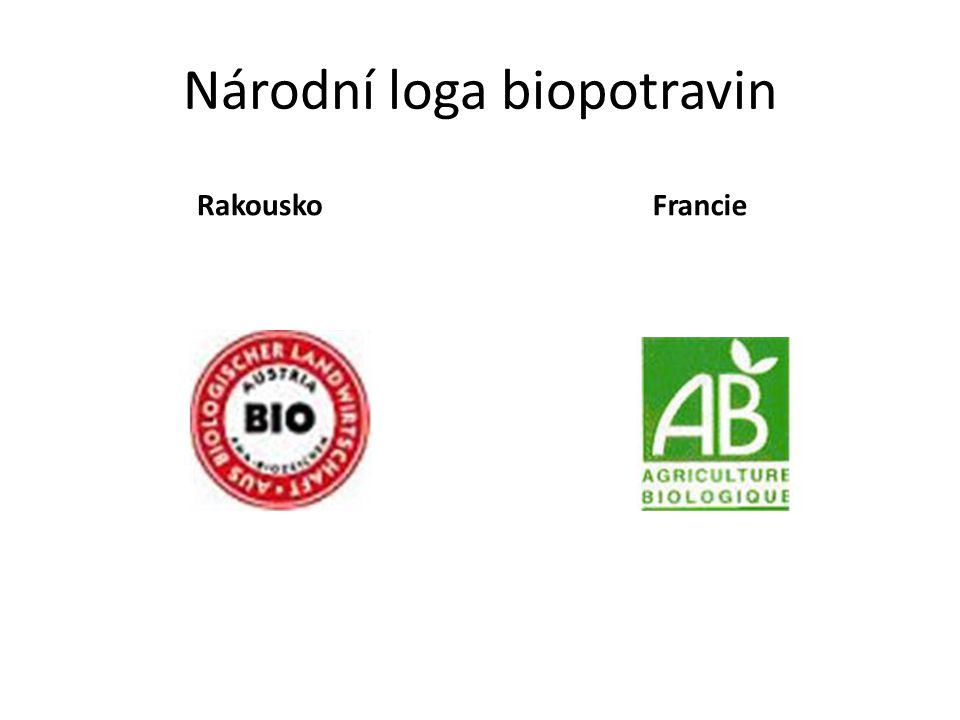 Národní loga biopotravin RakouskoFrancie