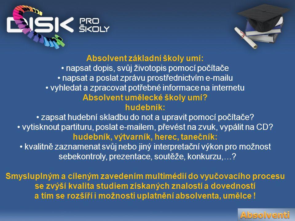 DISK Multimedia se zabývá návrhem a realizací komplexních řešení moderní výuky s využitím výpočetní techniky.