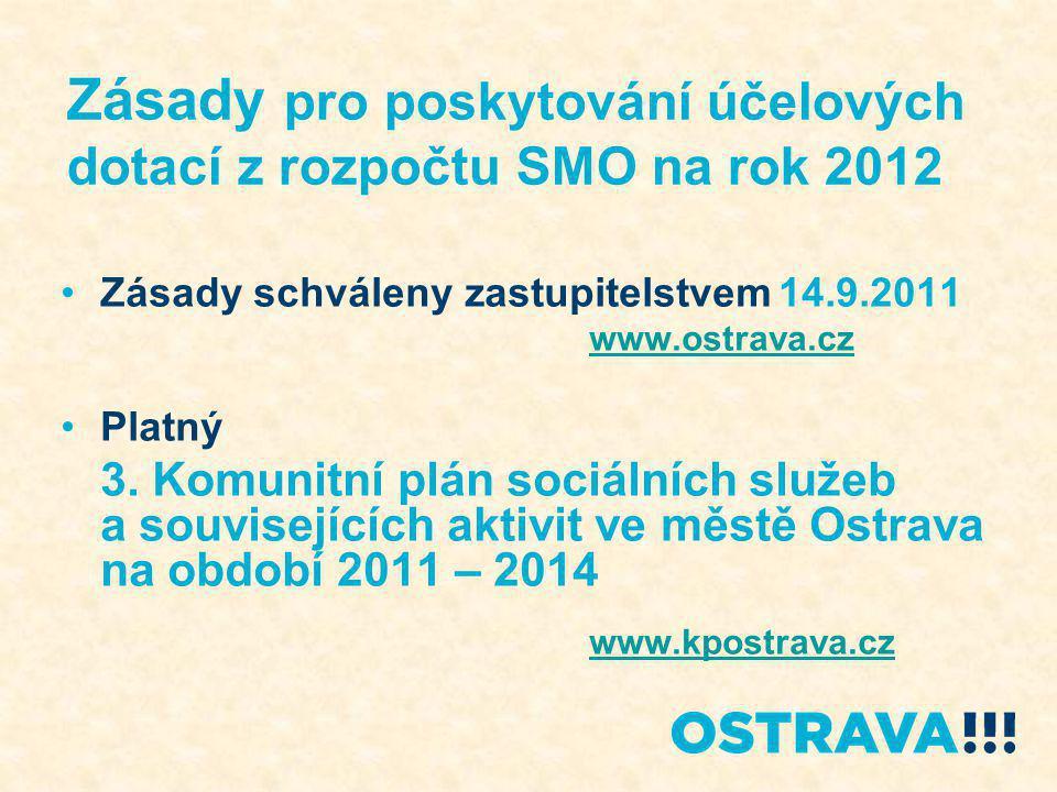 Zásady pro poskytování účelových dotací z rozpočtu SMO na rok 2012 1.
