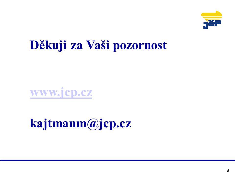 Děkuji za Vaši pozornost www.jcp.cz kajtmanm@jcp.cz 8