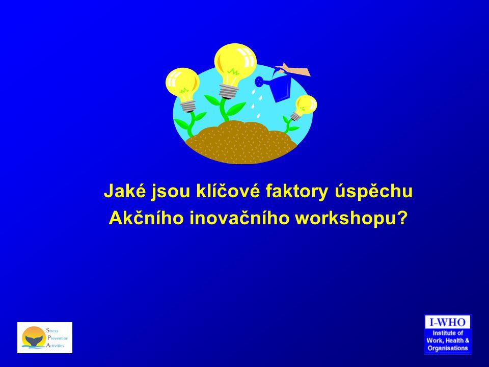 Jaké jsou klíčové faktory úspěchu Akčního inovačního workshopu?