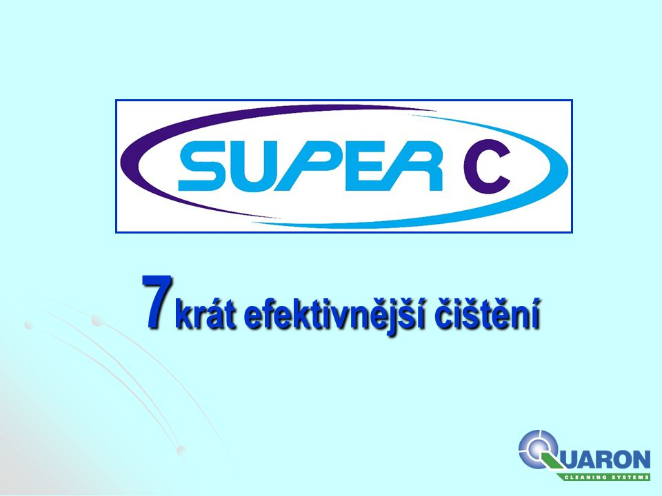   Kompletní systém obsahující sedm superkoncentrovaných čistících přípravků.