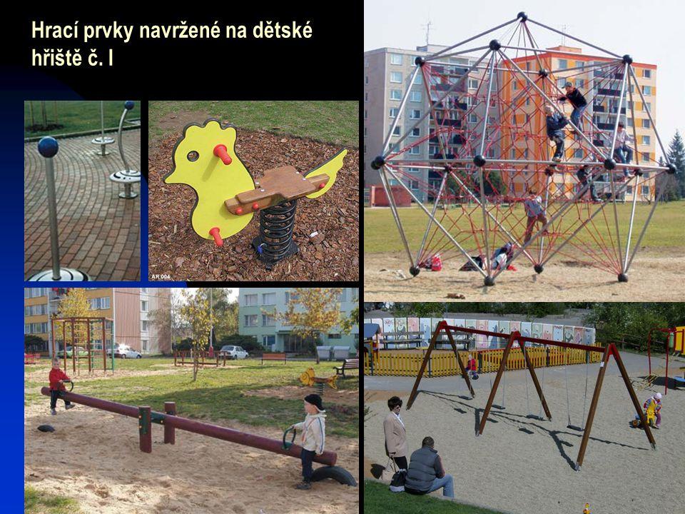 Hrací prvky navržené na dětské hřiště č. I