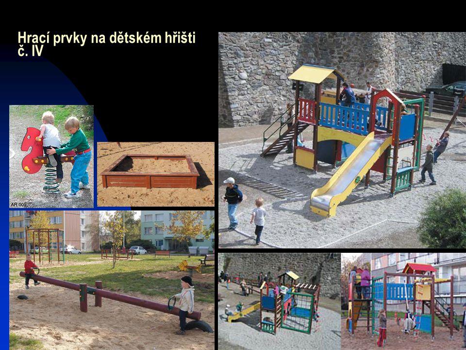 Hrací prvky na dětském hřišti č. IV