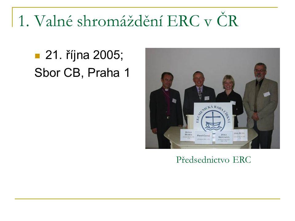 Ekumenické bohoslužby připravované ve spolupráci s ERC v ČR v roce 2005