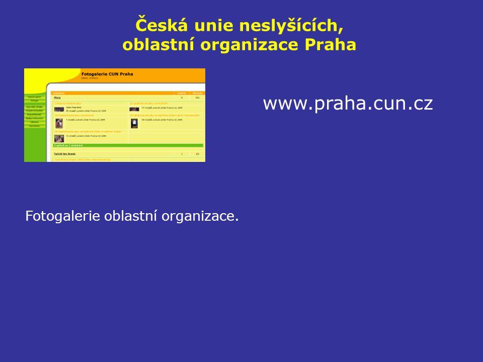 Česká unie neslyšících, oblastní organizace Praha www.praha.cun.cz Fotogalerie oblastní organizace.