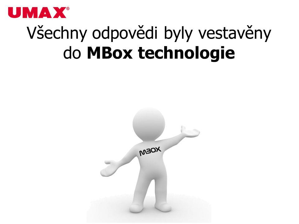 Všechny odpovědi byly vestavěny do MBox technologie