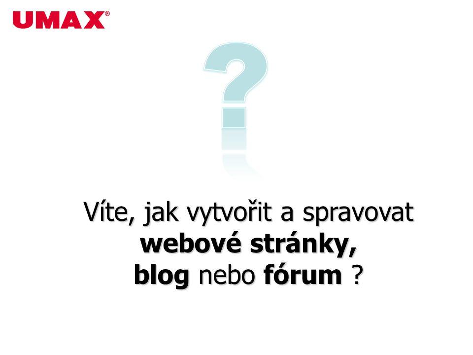 Víte, jak vytvořit a spravovat webové stránky, blog nebo fórum ?