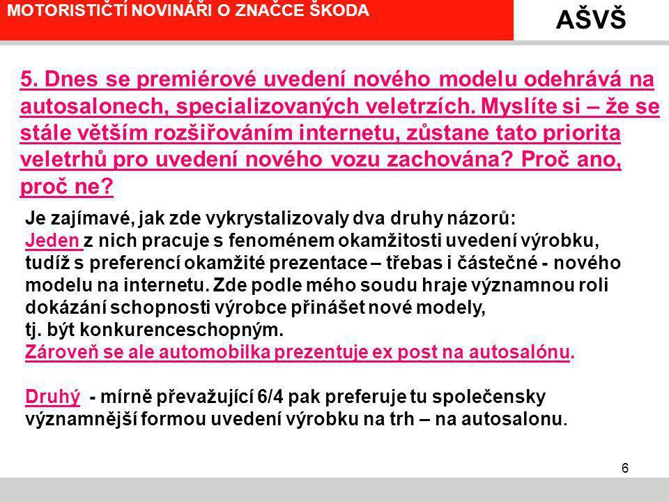 7 MOTORISTIČTÍ NOVINÁŘI O ZNAČCE ŠKODA 6.