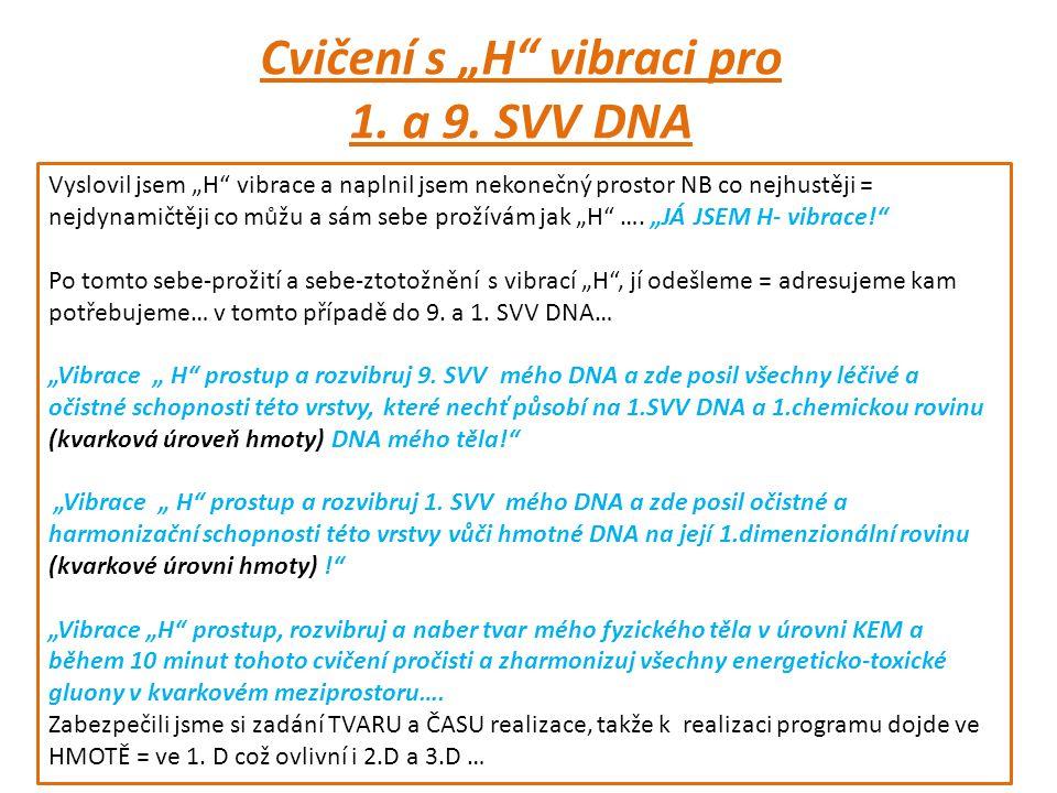 """Cvičení s """"H vibraci pro 1. a 9."""