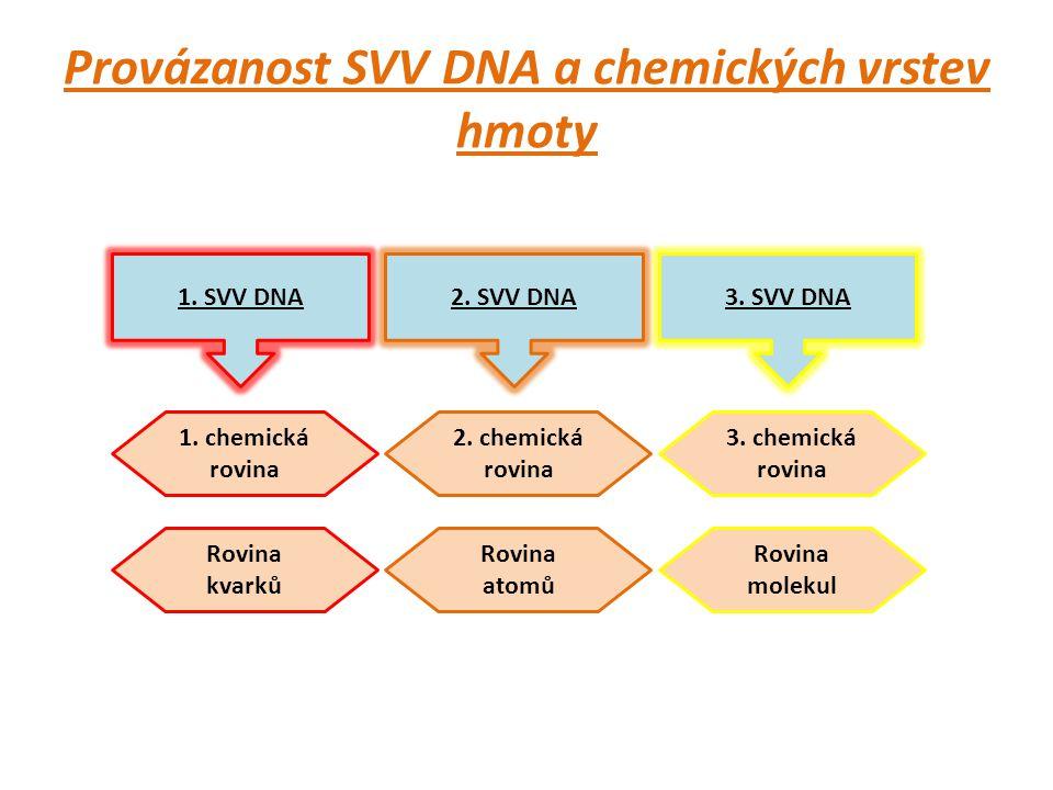 Provázanost SVV DNA a chemických vrstev hmoty 1. SVV DNA2.
