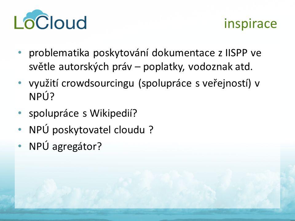 • problematika poskytování dokumentace z IISPP ve světle autorských práv – poplatky, vodoznak atd. • využití crowdsourcingu (spolupráce s veřejností)