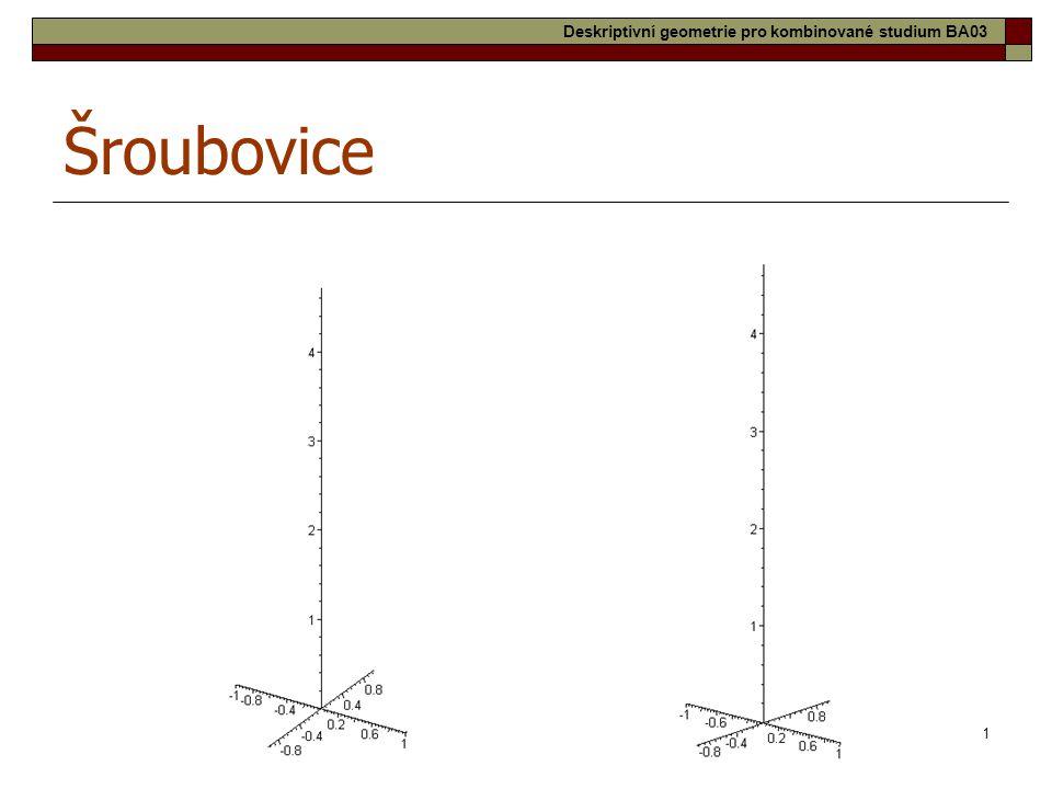 11 Šroubovice Deskriptivní geometrie pro kombinované studium BA03