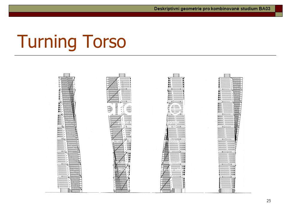 25 Turning Torso Deskriptivní geometrie pro kombinované studium BA03