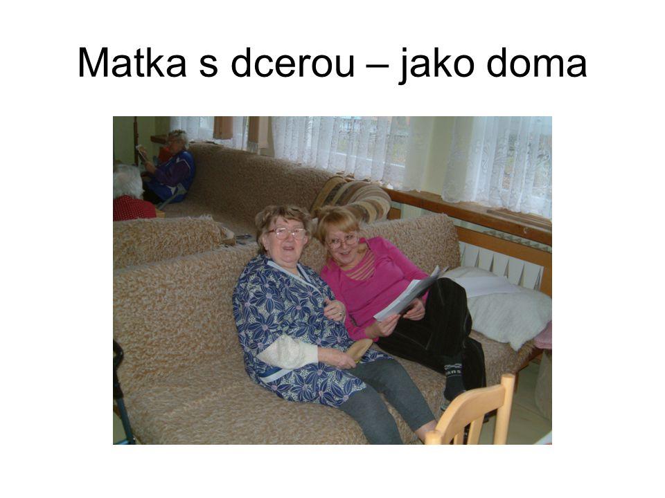 Matka s dcerou – jako doma