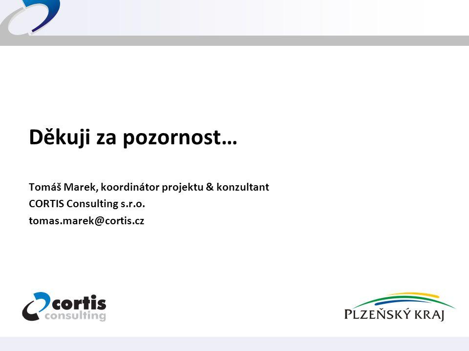 Děkuji za pozornost… Tomáš Marek, koordinátor projektu & konzultant CORTIS Consulting s.r.o. tomas.marek@cortis.cz