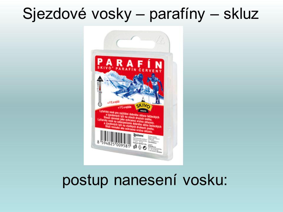 Sjezdové vosky – parafíny – skluz postup nanesení vosku:
