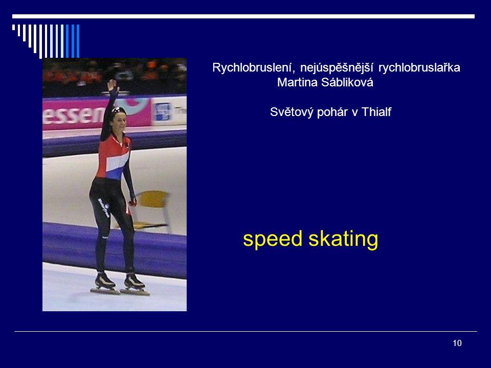 Rychlobruslení, nejúspěšnější rychlobruslařka Martina Sábliková Světový pohár v Thialf speed skating 10