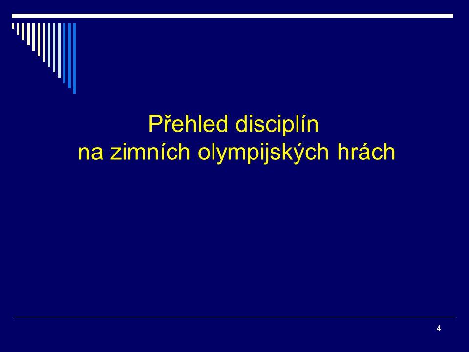 Přehled disciplín na zimních olympijských hrách 4