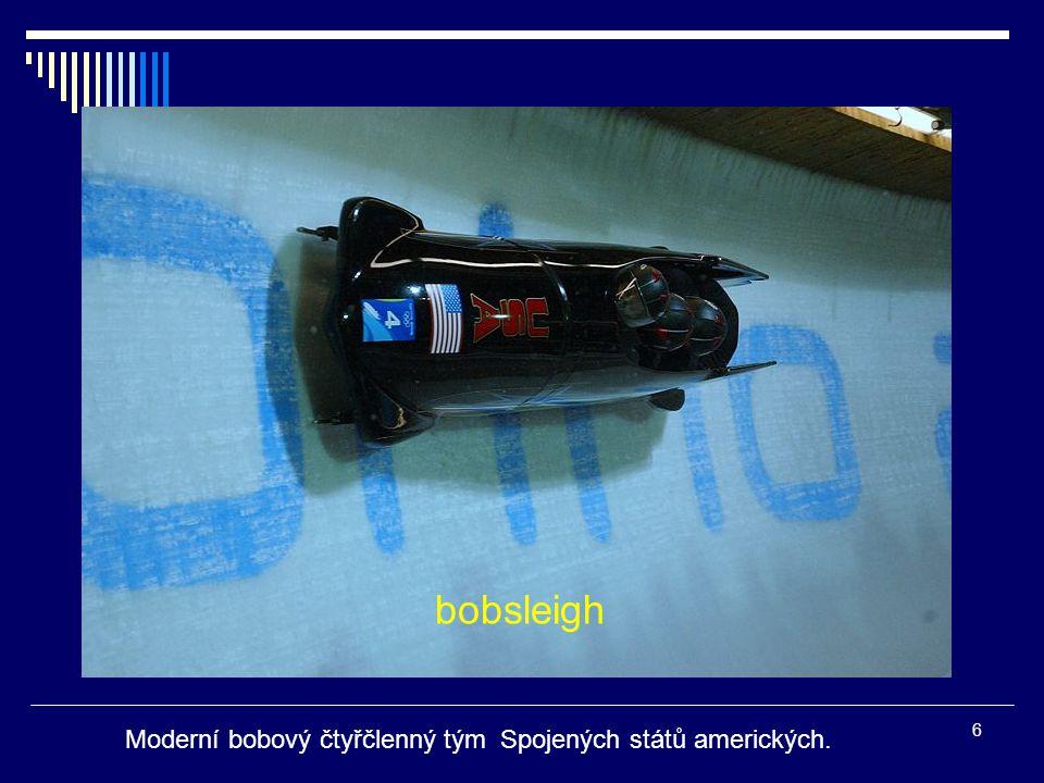 Moderní bobový čtyřčlenný tým Spojených států amerických. bobsleigh 6
