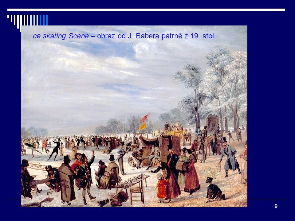 ce skating Scene – obraz od J. Babera patrně z 19. stol. 9