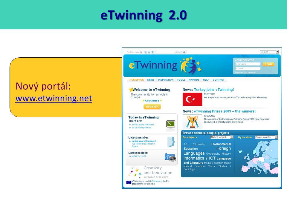 eTwinning 2.0 Nový portál: www.etwinning.net