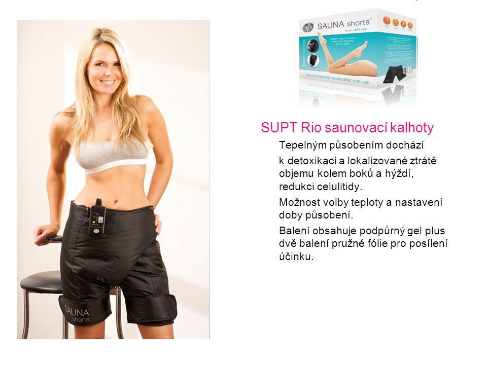 SUPT Rio saunovací kalhoty Tepelným působením dochází k detoxikaci a lokalizované ztrátě objemu kolem boků a hýždí, redukci celulitidy. Možnost volby