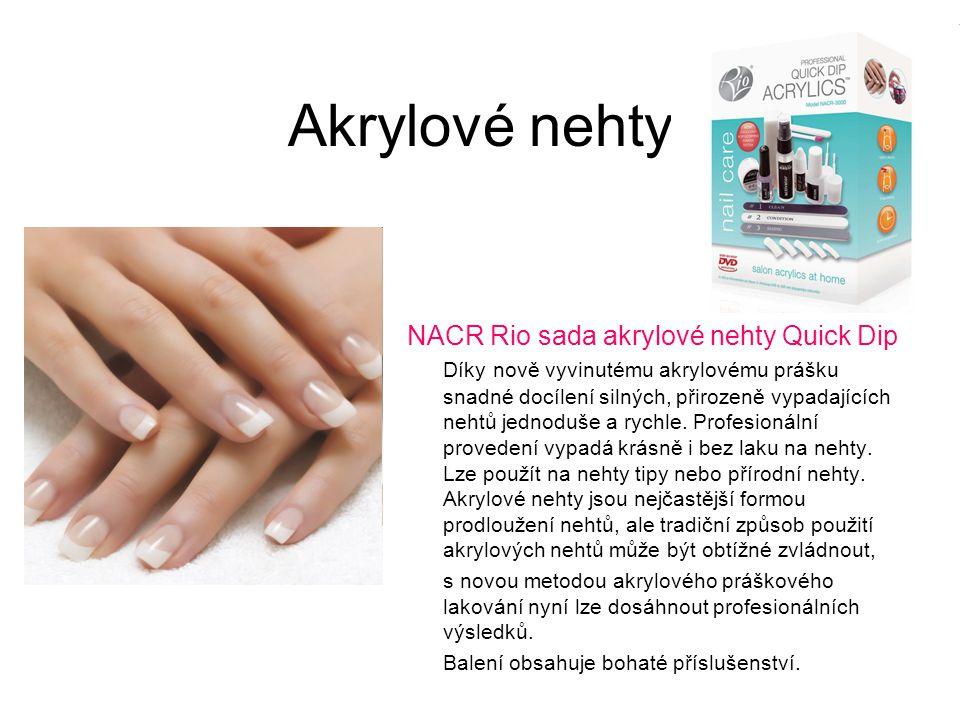 Akrylové nehty NACR Rio sada akrylové nehty Quick Dip Díky nově vyvinutému akrylovému prášku snadné docílení silných, přirozeně vypadajících nehtů jed