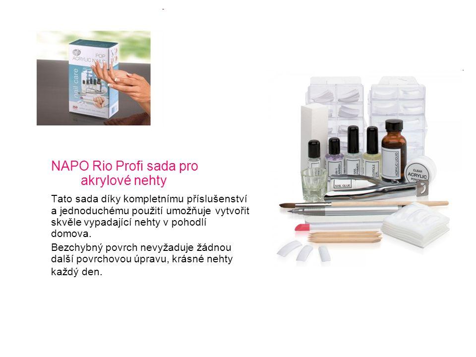 NAPO Rio Profi sada pro akrylové nehty Tato sada díky kompletnímu příslušenství a jednoduchému použití umožňuje vytvořit skvěle vypadající nehty v poh