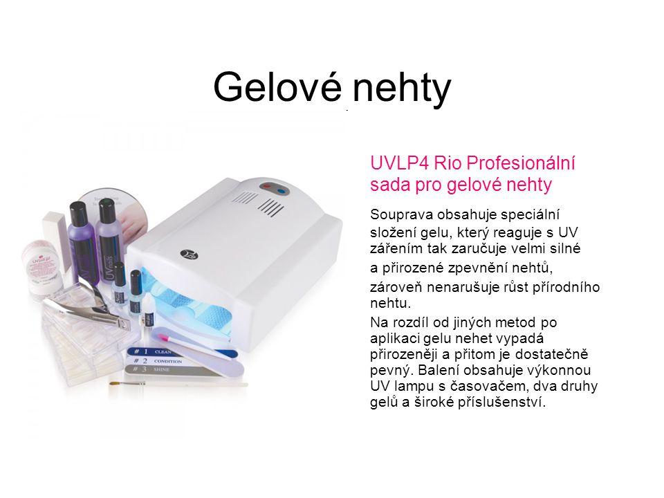 Gelové nehty UVLP4 Rio Profesionální sada pro gelové nehty Souprava obsahuje speciální složení gelu, který reaguje s UV zářením tak zaručuje velmi sil