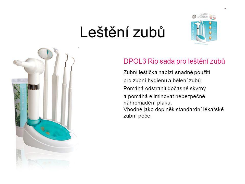 Leštění zubů DPOL3 Rio sada pro leštění zubů Zubní leštička nabízí snadné použití pro zubní hygienu a bělení zubů. Pomáhá odstranit dočasné skvrny a p