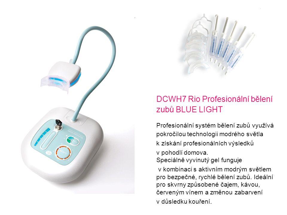 DCWH7 Rio Profesionální bělení zubů BLUE LIGHT Profesionální systém bělení zubů využívá pokročilou technologii modrého světla k získání profesionálníc