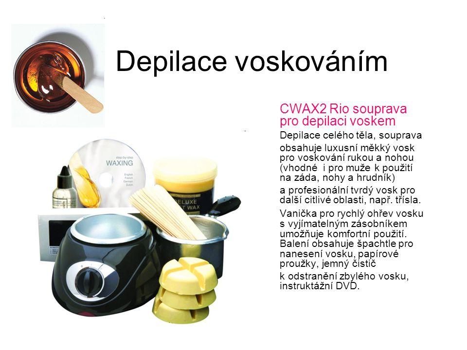 Depilace voskováním CWAX2 Rio souprava pro depilaci voskem Depilace celého těla, souprava obsahuje luxusní měkký vosk pro voskování rukou a nohou (vho