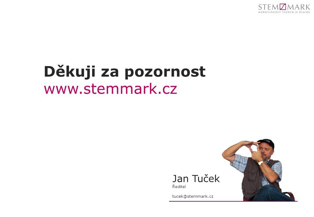 Děkuji za pozornost www.stemmark.cz Jan Tuček Ředitel tucek@stemmark.cz