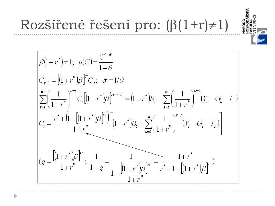 Rozšířené řešení pro: (  (1+r)  1)