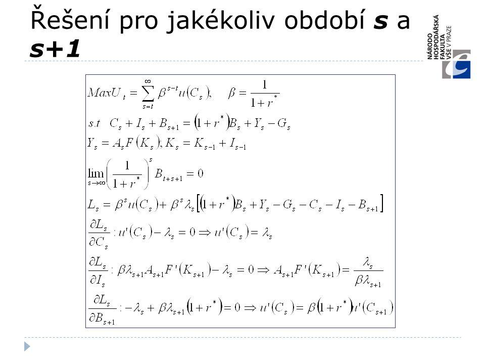 Řešení pro jakékoliv období s a s+1