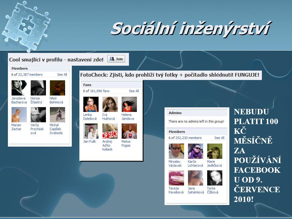 NEBUDU PLATIT 100 KČ MĚSÍČNĚ ZA POUŽÍVÁNÍ FACEBOOK U OD 9. ČERVENCE 2010!