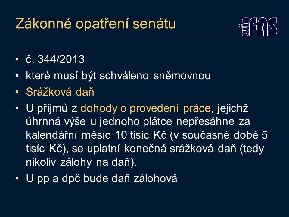 Zákonné opatření senátu •č.