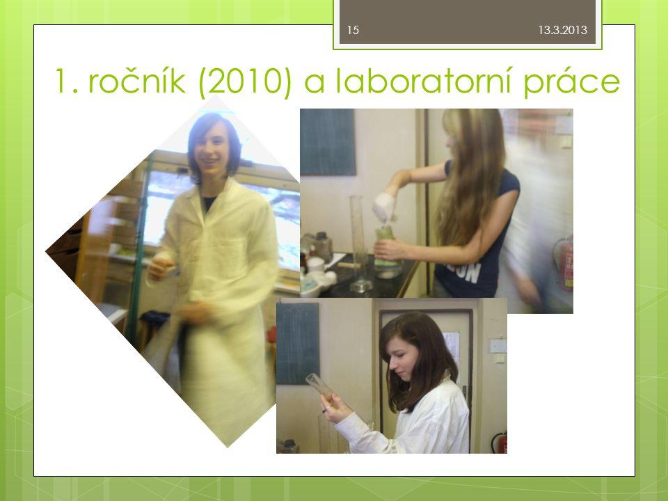 1. ročník (2010) a laboratorní práce 13.3.2013 15